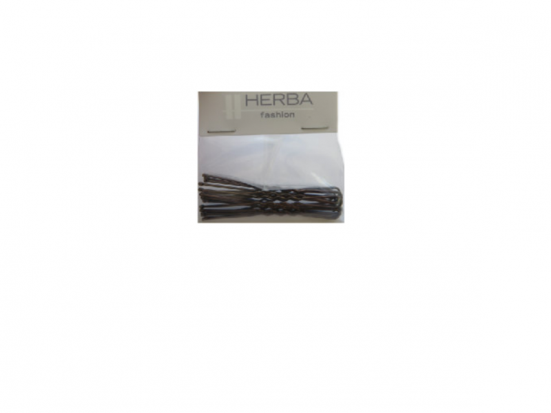 HERBA épingle à cheveux 6.5cm grand marron 12 pce